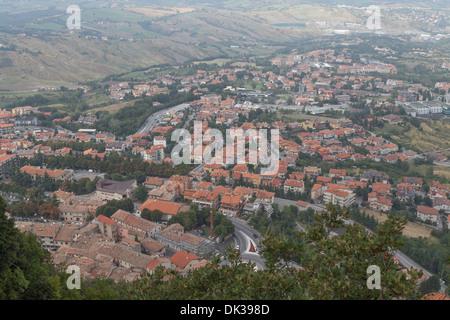 San Marino, View from the hill Monte Titano - Stock Photo