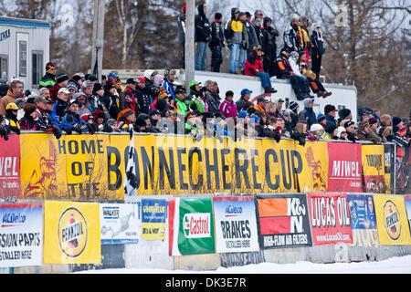 Feb. 27, 2011 - Eganville, Ontario, Canada - Fans (Credit Image: © Leon Switzer/Southcreek Global/ZUMAPRESS.com) - Stock Photo