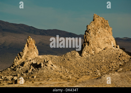 Tufa rock formations at the Trona Pinnacles, California - Stock Photo