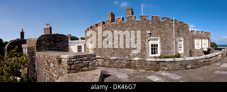 Panoramc, photostiched image of Walmer Castle, Walmer, Deal, Kent.