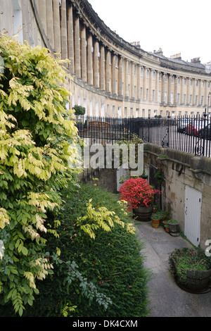 18th century Georgian Architecture of The Royal Crescent, Bath, England. A UNESCO World Heritage Site - Stock Photo