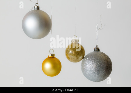 Christmas ornaments on white - Stock Photo