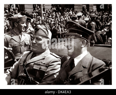 Benito Mussolini and Adolf Hitler in Munich, June 1940 during WW2 - Stock Photo