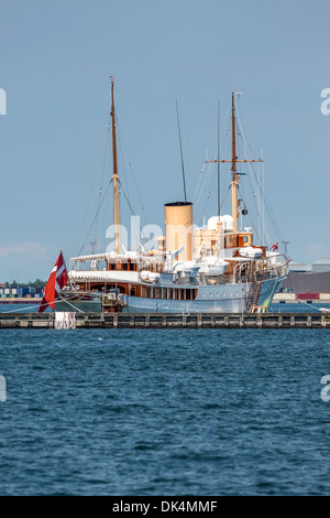 The Danish royal yacht Dannebrog - Stock Photo