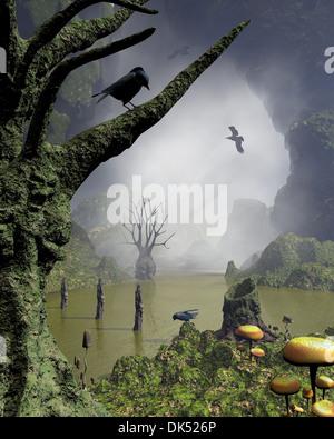Haunted Swamp - Stock Photo