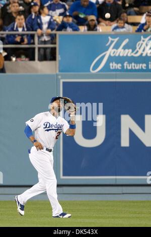 Apr. 19, 2011 - Los Angeles, California, U.S - Los Angeles Dodgers center fielder Matt Kemp #27 in action during - Stock Photo