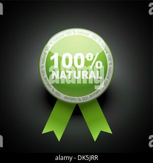 Ecology web push button icon. 100 percent - Stock Photo
