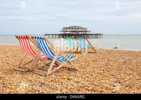 Brighton beach. Brighton, England - Stock Photo