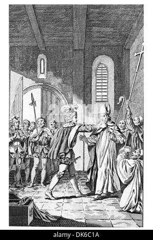 William the Conqueror Seizing his Brother Odo Bishop of Bayeux Earl of Kent - Stock Photo