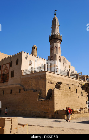 Mosque of Abu el Haggag within Court of Ramesses II - Luxor Temple, Egypt - Stock Photo
