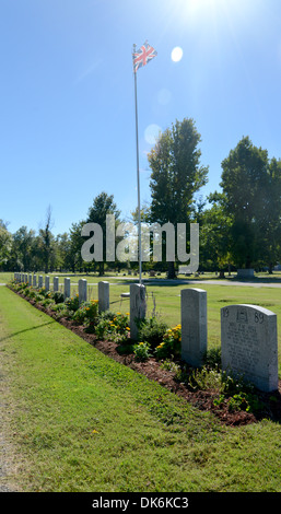 British military war graves of RAF men killed in training, and buried in Miami, Oklahoma, along historic Route 66 - Stock Photo
