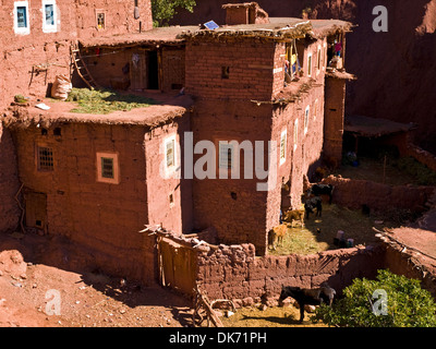 Berber architecture on the village of Megdaz - Stock Photo