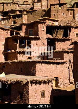 Berber architecture on the village of Megdaz - Stock Photo