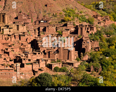 Megdaz a traditional Berber village in the Atlas mountains of Morocco - Stock Photo