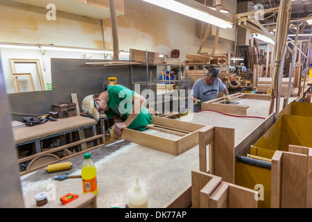 Men Building Cabinets For Motorcoaches In Cabinet Shop At Tiffin Motorhomes  Factory In Red Bay,