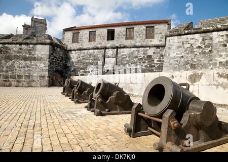The Castillo de la Real Fuerza, or Castle of the Royal Force, a 16th century fort in Havana, Cuba, Caribbean - Stock Photo