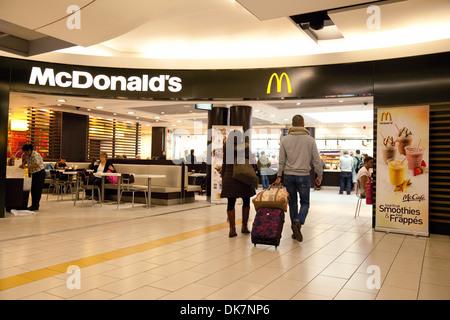 McDonalds restaurant at the South terminal Gatwick airport, UK - Stock Photo