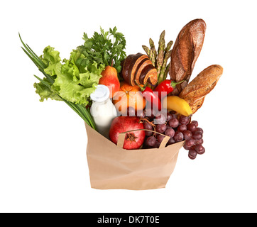 Eco friendly food shopping - Stock Photo