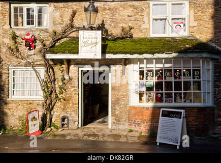 An old-fashioned baker's shop in the historic village of Lacock in Wiltshire. - Stock Photo
