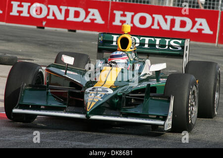 July 10, 2011 - Toronto, Ontario, Canada - IZOD Honda Indy driver #5 Tacuma Sato of Team Lotus prior to the Honda - Stock Photo