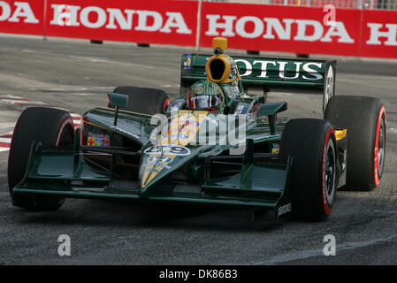July 10, 2011 - Toronto, Ontario, Canada - IZOD Honda Indy driver #59 E.J. Viso of Team Lotus prior to the Honda - Stock Photo
