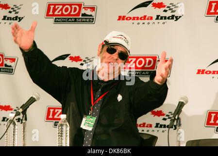 July 10, 2011 - Toronto, Ontario, Canada - IZOD Honda Indy official starter Dan Ackroyd speaks to the media prior - Stock Photo