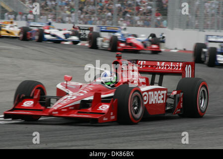 July 10, 2011 - Toronto, Ontario, Canada - IZOD Honda Indy driver #10 Dario Franchitti just prior to the green flag - Stock Photo