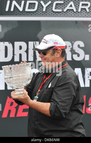 July 10, 2011 - Toronto, Ontario, Canada - Actor Dan Aykroyd brings the first place trophy to the winner of the - Stock Photo