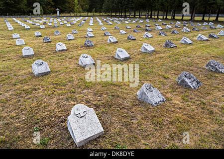 German First World War cemetery, Bovec, Slovenia - Stock Photo