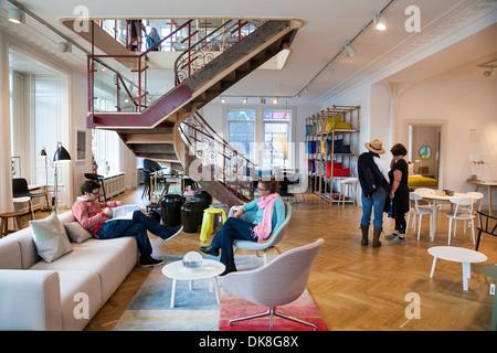 Hay House store in Copenhagen, Denmark. - Stock Photo