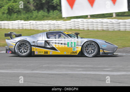July 23, 2011 - Bowmanville, Ontario, Canada - The #04 Robertson Racing Doran Ford GT during morning practice for - Stock Photo
