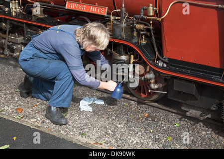images from miniature railway in Ravenglass, lake district, Cumbria, England, UK - Stock Photo