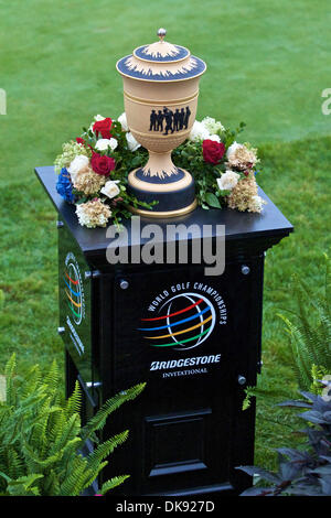 Aug. 6, 2011 - Akron, Ohio, U.S - The Gary Player Trophy awarded to the winner of the Bridgestone Invitational at - Stock Photo