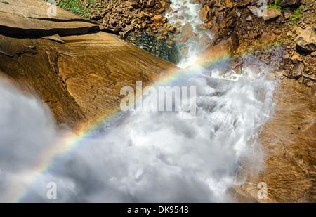 Looking down on Nevada Fall. Yosemite National Park, California, United States. - Stock Photo