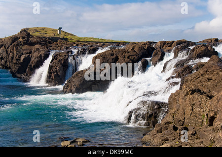 Waterfall, Borgarnes, Iceland - Stock Photo