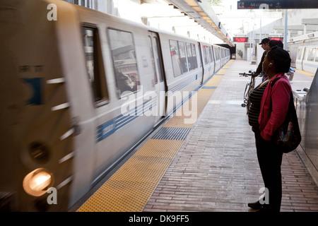 Bart train - San Francisco, California USA - Stock Photo