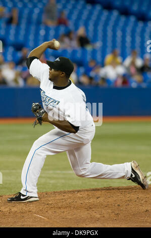 Aug. 29, 2011 - Toronto, Ontario, Canada - Toronto Blue Jays pitcher Frank Francisco (50) entered the game in the - Stock Photo