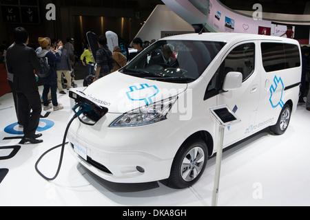 Nissan e-NV200 electric van at Tokyo Motor Show 2013 in Japan - Stock Photo