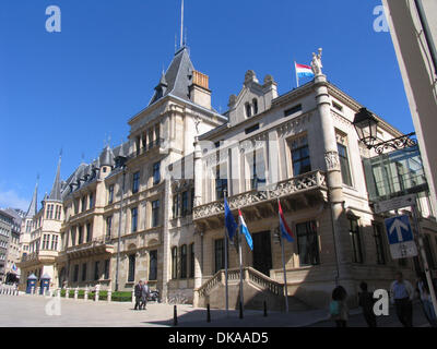 The Palais Grand Ducal is located at the historic part of Luxembourg-city. This place is listed as a historical - Stock Photo