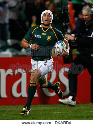 South Africa's Gio Aplon...Rugby Union World Cup 2011 Pool D..South Africa v Namibia..22nd September, 2011.(Credit - Stock Photo