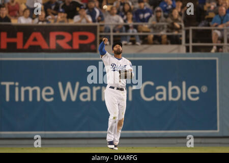 Sept. 22, 2011 - Los Angeles, California, U.S - Los Angeles Dodgers center fielder Matt Kemp #27 in action during - Stock Photo