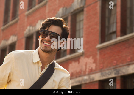 Portrait of young man, Los Angeles, California, USA - Stock Photo