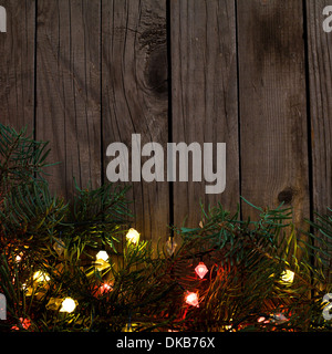 holiday background with christmas lights - Stock Photo