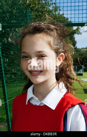 Portrait of schoolgirl netball player - Stock Photo