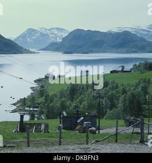 Altafjord near Tromso Norway where the German battleship Tirpitz was sunk 0n 12th November 1944 - Stock Photo