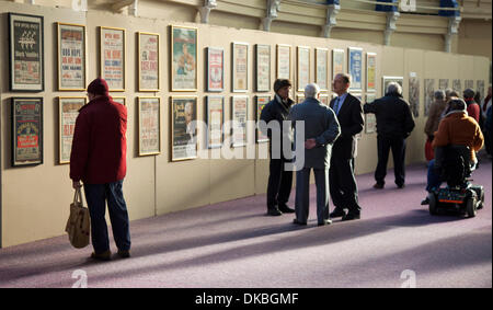Blackpool, Lancashire, UK 4th December, 2013.  'Wall of Fame'  Archive posters of the entertainment Stars of yesteryear - Stock Photo