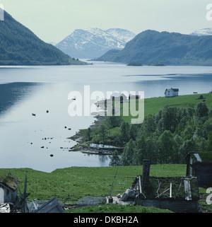 Altafjord near Tromso Norway where the German battleship Tirpitz was sunk on 12th November 1944 - Stock Photo