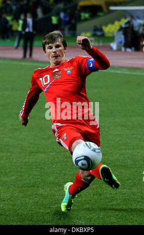 Oct 11, 2011 - Moscow, Russia - Russia national team forward ANDREI ARSHAVIN during the UEFA Euro 2012 Qualifying - Stock Photo