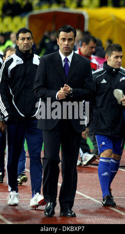 Oct 11, 2011 - Moscow, Russia - JESUS ALVAREZ (C), Andorra national team manager during the UEFA Euro 2012 Qualifying - Stock Photo