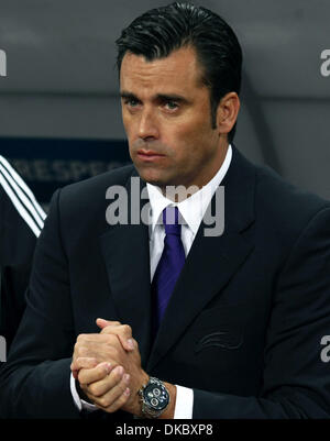 Oct 11, 2011 - Moscow, Russia - JESUS ALVAREZ, Andorra national team manager during the UEFA Euro 2012 Qualifying - Stock Photo